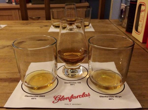 Three Glenfarclas whiskies